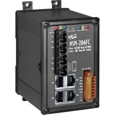 NSM-206FC CR, ICP DAS Co, Промышленные медиаконвертеры, Коммутаторы