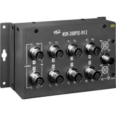 NSM-208PSE-M12, ICP DAS Co, Неуправляемые Ethernet коммутаторы, Коммутаторы
