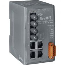 NS-206FT CR, ICP DAS Co, Промышленные медиаконвертеры, Коммутаторы